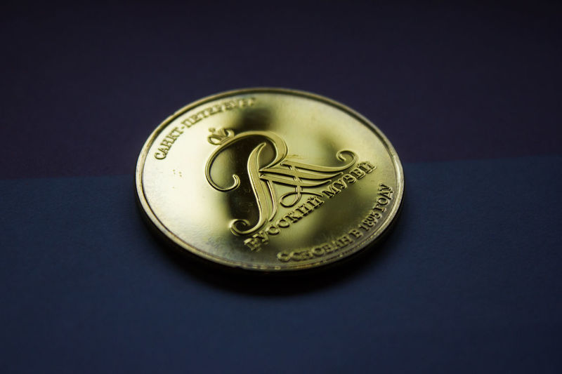 Coin Gold Saint Petersburg монета русский музей Санкт-Петербург