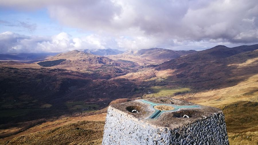 Caw Summit Great Background Mountain Range Landscape Outdoors Beauty In Nature Cloud - Sky Sky No People Alday Cumbrian Fells Lakeland