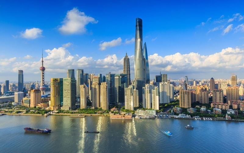 Huangpu River By Cityscape