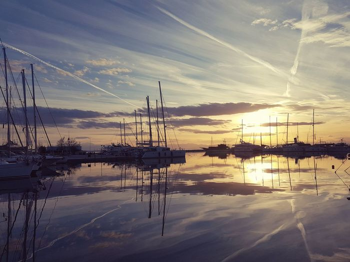 Reflection Sunset Sea Sailboat Boat Water Vehicle Sailing Nautical Vessel First Eyeem Photo My Best Photo The Art Of Street Photography