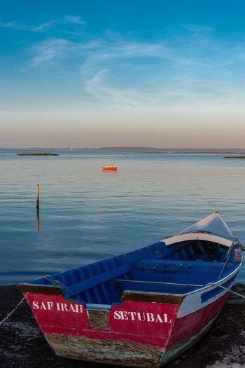Harbour Pier Por Do Sol Porto Portugal Wood Alcacer Do Sal Barco Blue Boat Cais Carrasqueira Comporta Horizon Over Water Moored Nature Nautical Vessel Outdoors Palafitic Palafitico Sea Sky Sunset Tranquil Scene Water