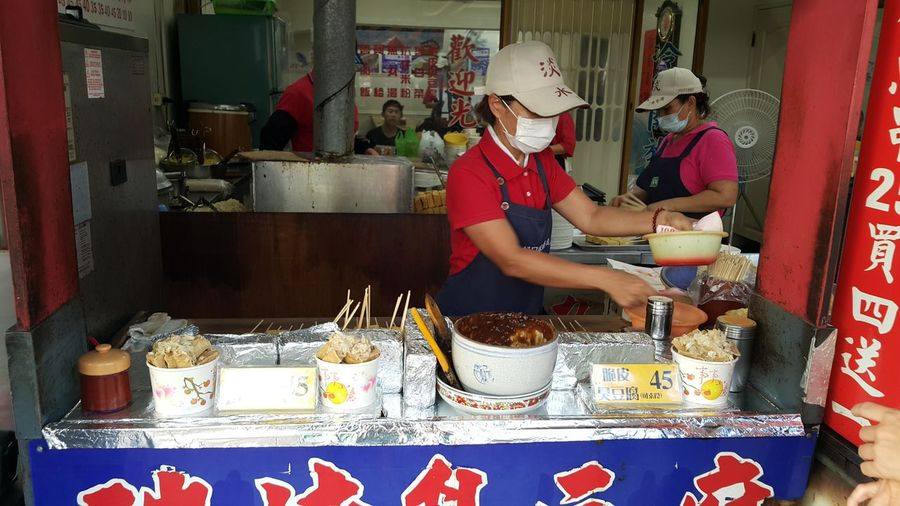 Food Stinky Tofu Street Food Taiwan Tumsui Business Real People