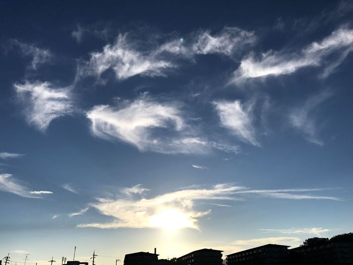 Sky Cloud - Sky Low Angle View No People Blue Silhouette Day Scenics Beauty In Nature Nature Outdoors Technology Architecture