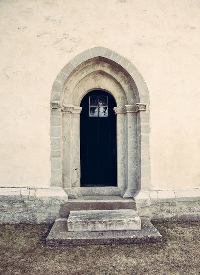 The door Architecture Building Built Structure Church Door Entrance Entrance Exterior Historic History Minimalism Old Simple Beauty Stone Wall Wall Sweden Fine Art Photography