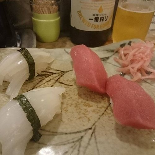 寿司~(笑) まつの影響 どうしても食べたくなった