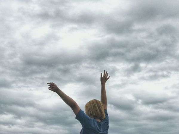 Human Arm Arms Raised Hand Raised Limb Human Body Part Only Women One Woman Only Adult Cloud - Sky Freedom Adults Only People One Person Women Outdoors Ecstatic Excitement Cheering One Young Woman Only Happiness