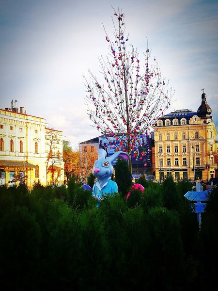 Easter Bunny Easter Easter Decoration Krakow Poland Holiday Spring Easter Tree