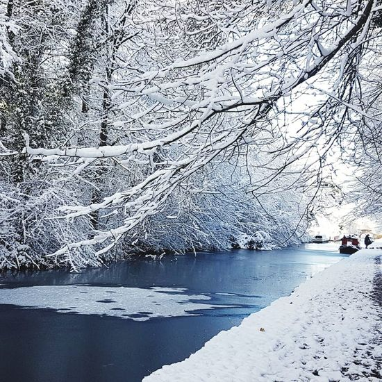 Snow Canal Winter Canalboat Canals And Waterways Nature Water Beauty In Nature Tranquility Scenics EyeEmNewHere Shades Of Winter