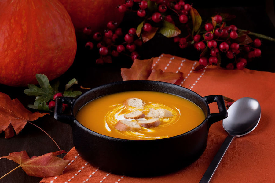 Autumn Thanksgiving Vegetarian Food Autumn Vegetables Close-up Day Food Food And Drink Freshness Healthy Eating Indoors  No People Pumpkin Ready-to-eat Seasonal Serving Size Soup Still Life Table Vegetable Vegeterian
