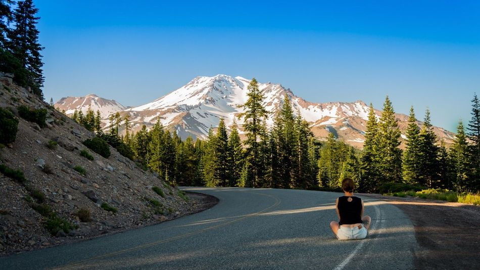 The Journey Is The Destination Mountain Nature Mt Shasta California Road Adventure Traveling