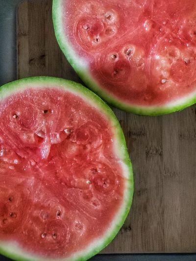 Watermelon Rinds. Ready Harvest Bar Spring Springtime Harvest Time Cross Section Table Watermelon Melon Fruit Juice Juicy Halved Ripe