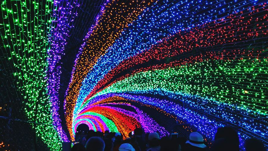 อุโมงค์สายรุ้ง Dasada Tunnel Rainbow Light Thailand Samsung Note4