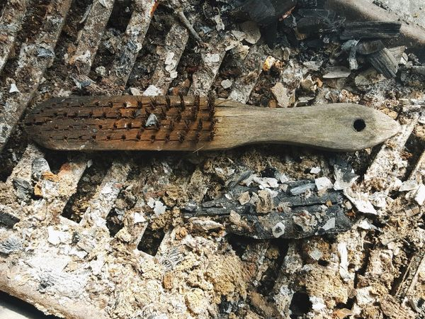Barbecue Equipment Barbed Wire Cooking Family Friends Metal Bristles Ash Barbecue Barbecue Grill Barbecue Season Barbeque Bristles Brush Close-up Coal Day Fire Nature No People Outdoors Still Life Togetherness Wood - Material Work Tool