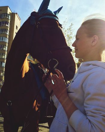 I Love It ❤ Horse 😚 лошадь Enjoying Life First Eyeem Photo