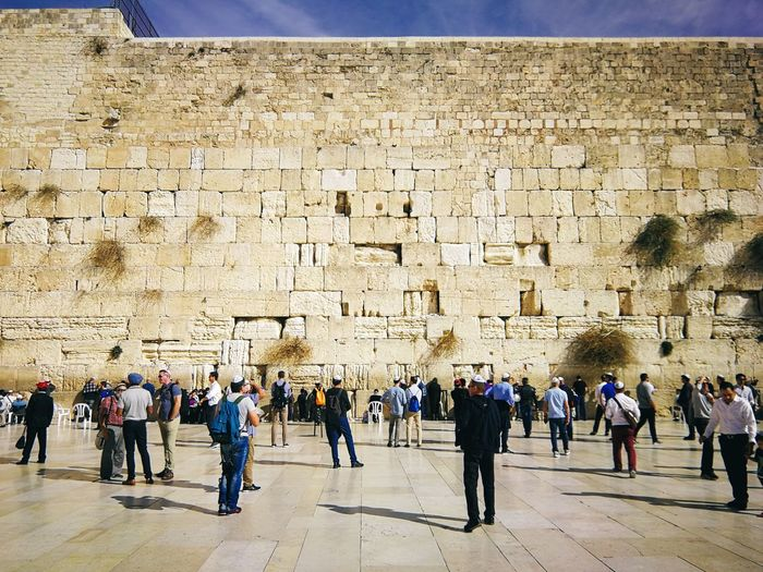 The Western Wall Religion Ancient Civilization Ancient Old Ruin History Men Architecture Built Structure Civilization Monument