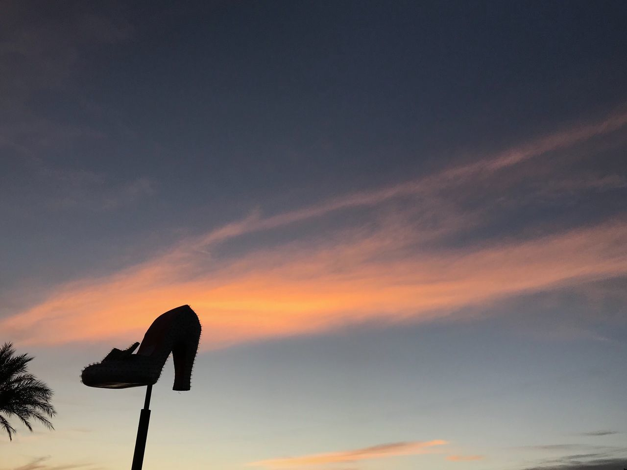 sunset, sky, beauty in nature, nature, no people, cloud - sky, scenics, silhouette, low angle view, outdoors, day