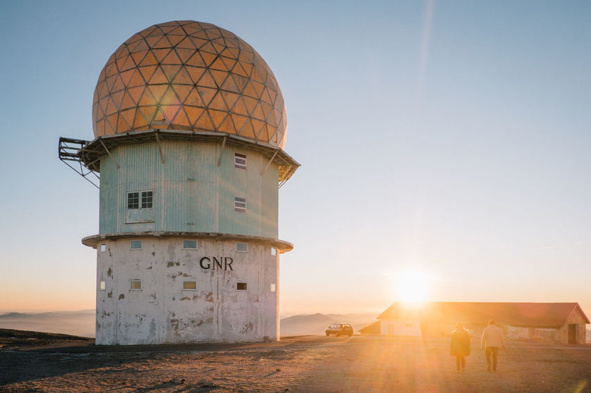 Architecture Building Exterior Built Structure Clear Sky Day Dome Lighthouse Manteigas Nature No People Outdoors Sea Sky Sun Sunlight Sunset Travel Destinations