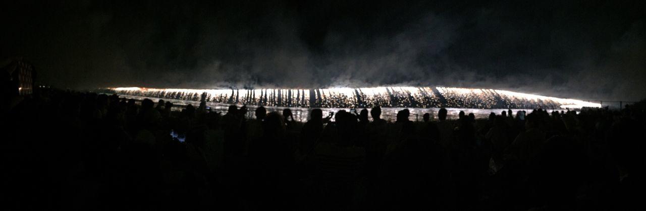 Japan Nagano Suwa Photography Fireworks Lake Suwa Lake Festival Panorama