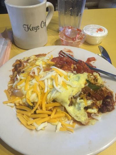 Mexica omelette. Yum!
