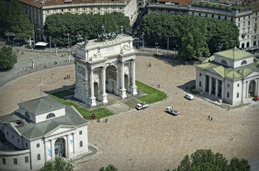 Beautiful Plaza Sempione in Milan Italy Aerial view Aerial View Architecture Italien Italy Mailand Milan No People Outdoors Outdoors Photograpghy  Piazza Sempione Porta Sempione