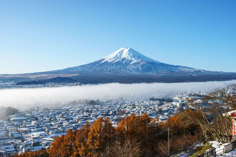 Scenic View Of Mount. Fuji