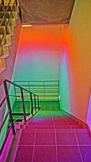 Colors Color Portrait Colorful Color JCC Art Center Stairs Light Light Colors Color Explosion Colorsplash Architecture Best Of Stairways Ando Tadao