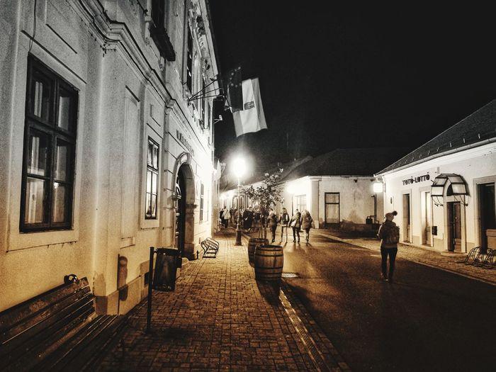 Tokaj nocą Built Structure Architecture Illuminated Night Building Exterior Travel