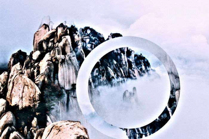 Reality shift No People Sky Outdoors Astronomy Day Fog Foggy Grey Grey Sky Mountain Shift Circle Black And White waiting game Photography In Motion Snowing Digital Composite Photo Portrait Photography 3XSPUnity