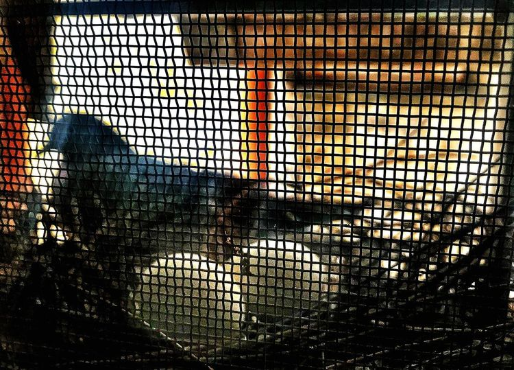 Pigeon's Nest....HOME SWEET HOME.....Eggs....New Life Out Of The World Home is Where the Art is New Life Nesting Home Nest Bird Eggs Egg Pigeon Bird Photography Pattern Backgrounds Full Frame No People Window Architecture Indoors  Protection Grid Nature Design Textured  See Through Glass - Material Security Built Structure Metal Day Silhouette