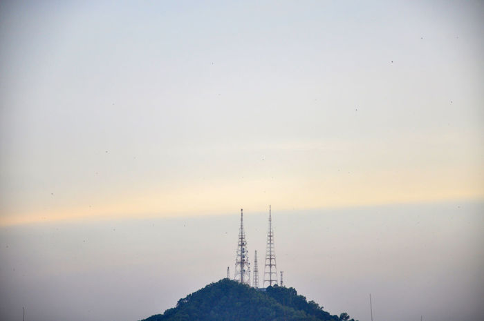 telecommunication tower on top of the hill during sunrise 3g Antenna - Aerial Architecture Broadcasting Communication Connection Data Day Global Communications Internet Nature No People Outdoors Radar Radio Silhouette Sky Sunset Technology Tower Towers Transmitter