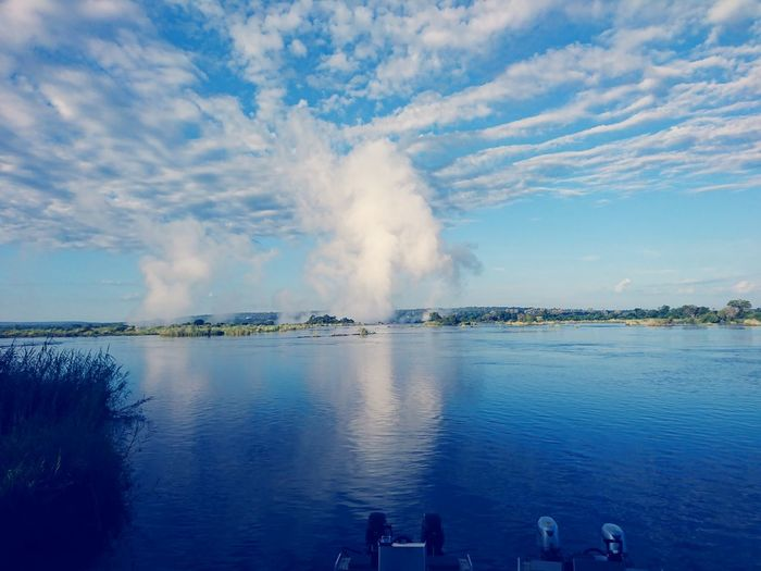 Victoriafalls EyeEmNewHere Water Sky Outdoors Cloud - Sky Nature Sea Spraying