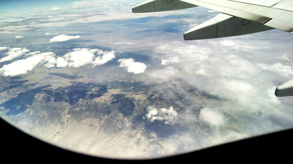 On The Way Flight Wings Aerial View Aerial Shot Flight IPhone Flight Window Window View Nature Fine Art Photography Showcase July Adventure Club Popular Aeroplane Window View Travel Travel Photography Plane Landscape Clouds And Sky Blue Sky A Bird's Eye View Traveling Home For The Holidays