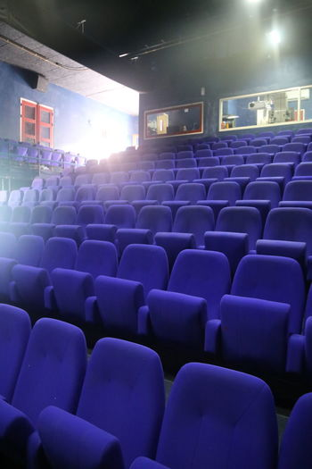 Arts Culture And Entertainment Auditorium Before The Show Blue Indoors  Luna Blou Meeting No People Otrabanda Performing Arts Event Projection Screen Seat Seatrows Stage - Performance Space