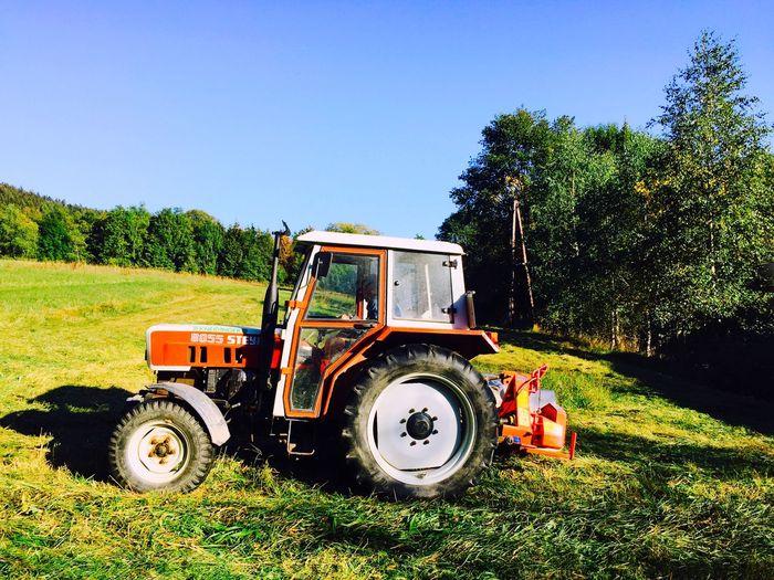 Farming around... Tractor Cutting Grass Grass Mawning  Farming Farmlife Field Working Sunny Land