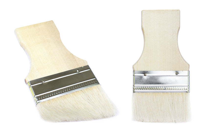 Brush Two Objects White Background