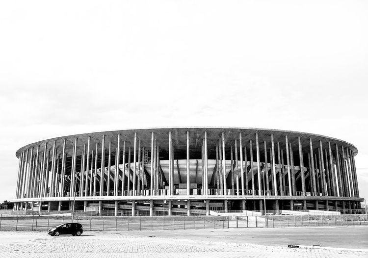 Stadium Sky Beach Land Nature Built Structure Architecture The Architect - 2019 EyeEm Awards Building Exterior No People Clear Sky Outdoors In A Row Chair Side By Side Arrangement Water Sand Copy Space Day Field Seat