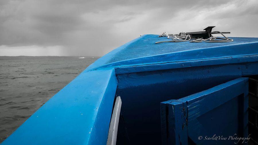 Braving the incoming storm. Colorpop Jamaica Orange Bay Hanover Negril Blue Out At Sea Vacay2015 Vacation Vacay