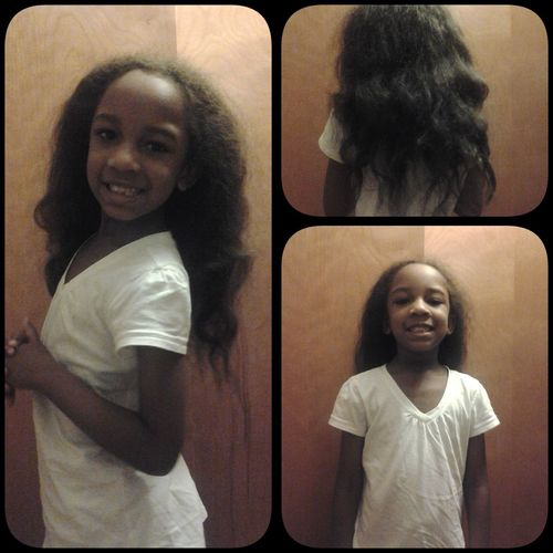 Lil Sis Got Her Hair Straightened For The First Time