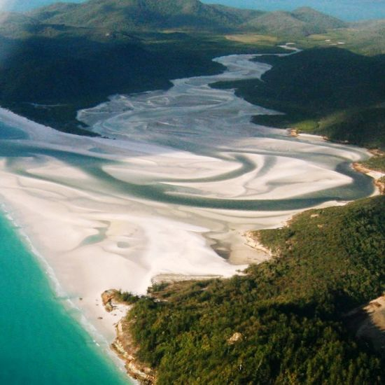 Whitsundays Beachphotography Aerial Shot Swirling Sands Whitsunday Islands Whitsundays, Great Barrier Reaf Waves Outdoors Capturing Freedom View