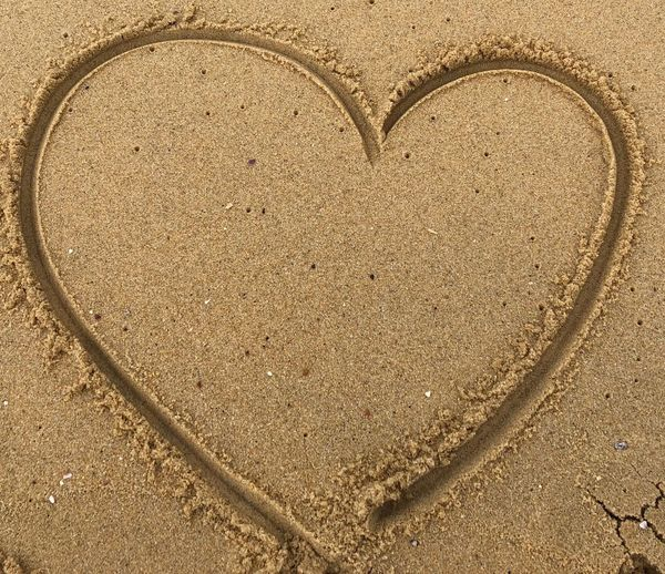 Sand In My Heart Itamambuca No People Heart Shape Close-up Love Backgrounds Textured  Shape Positive Emotion Full Frame Day Sand Nature Design Emotion Creativity Art And Craft Land