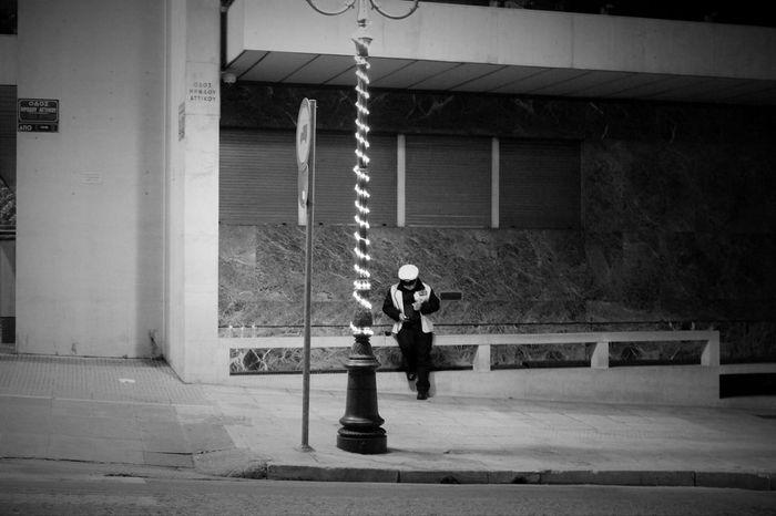 Athens, Greece Taking Photos Showcase: December Trafficpolice Christmastime B&w Street Photography