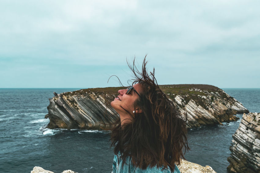Be Brave Beauty In Nature Hair Hairstyle Horizon Horizon Over Water Leisure Activity Lifestyles Long Hair Nature One Person Outdoors Real People Scenics - Nature Sea Sky Water Wind Young Adult Young Women