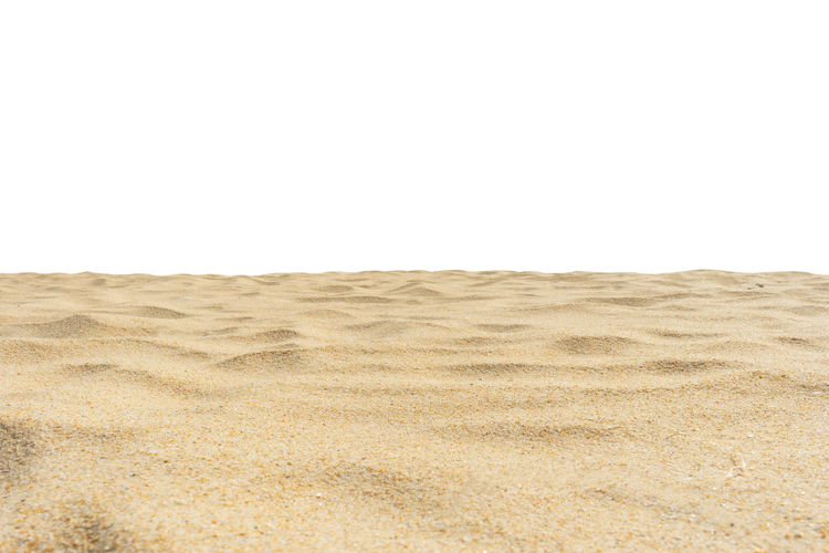 Beach sand texture isolated on white screen. Copy Space No People Land Sand Desert Environment Arid Climate Climate Landscape Scenics - Nature Nature Tranquility Day Isolated On White White Screen Di Cut Paper Summer White Background Sky Clear Sky Tranquil Scene Horizon Over Land Beauty In Nature Remote Horizon Outdoors Surface Level