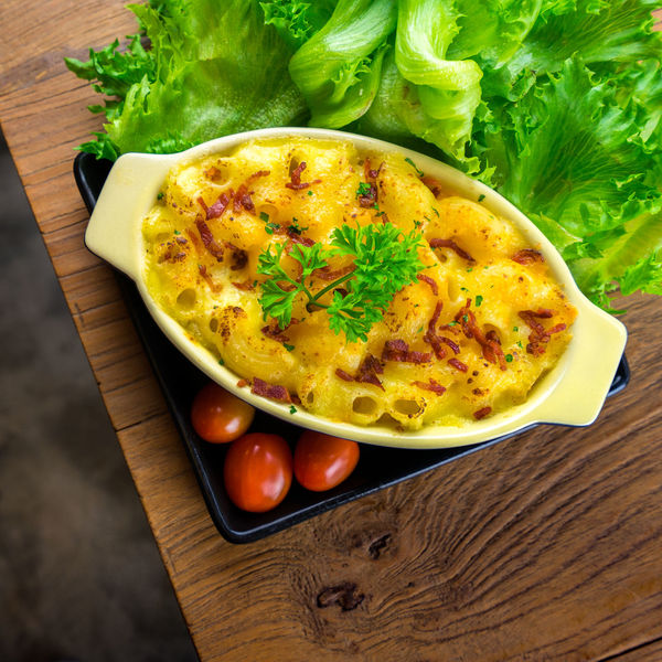 macaroni and cheese homemade food Close-up Day Egg Egg Yolk Food Food And Drink Freshness Green Color Healthy Eating High Angle View Indoors  No People Plate Ready-to-eat Table Vegetable