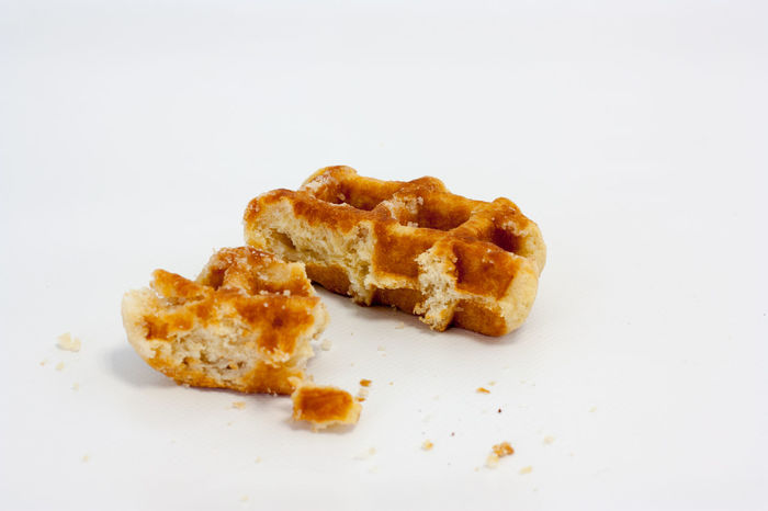 Just a bit Appetizer Biscuit Bit  Cookie Crumb Dessert Food Food And Drink French Food Homemade Indoors  Indulgence Ready-to-eat Snack Studio Shot Sweet Food Unhealthy Eating Waffle Waffle Time White Background Yummy