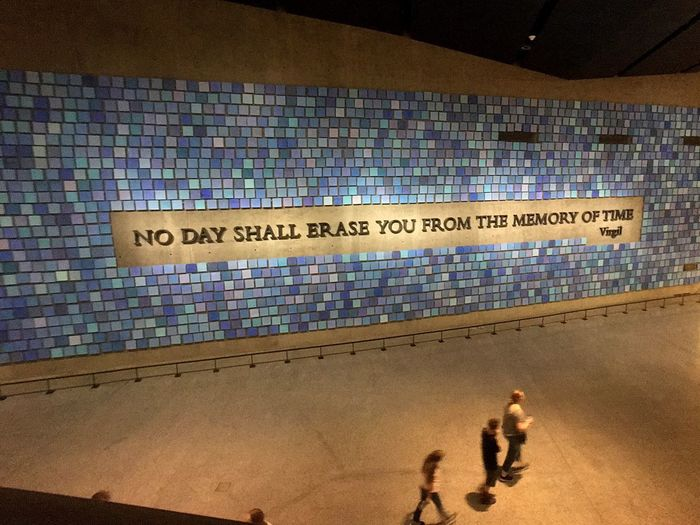 Resist Text Real People Communication Men Indoors  Architecture Day Remembering EyeEmBestPics EyeEm Best Shots EyeEm Gallery Check This Out National September 11 Memorial & Museum Blue Squares Victims Illuminated Art Is Everywhere