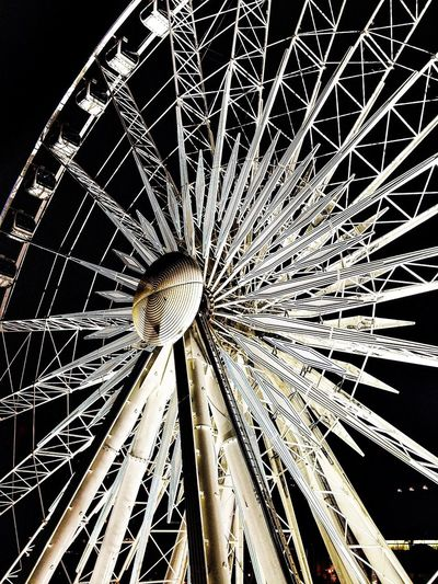Atlanta Ferris Wheel Monochrome