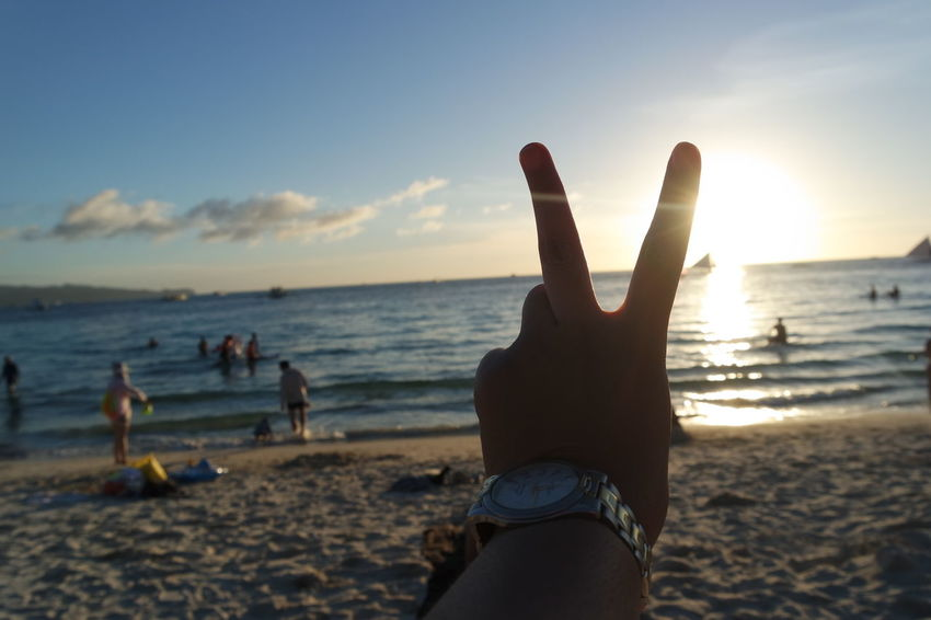 summer feels like - peace Gettl This Summer Sunset Landscape Orange Sea Vitamin Sea Heat View Attractio Island Free Vacation Hope Peace Cool WOW Sight Boracay Boracay Island  Boracay Island, Philippines Enjoying Life Enjoying The View Photography Nature Nature Lover Peace
