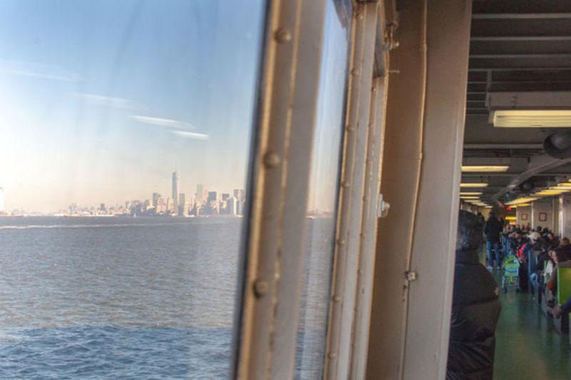 Boat Indoors  NYC Perspective Skyline Window