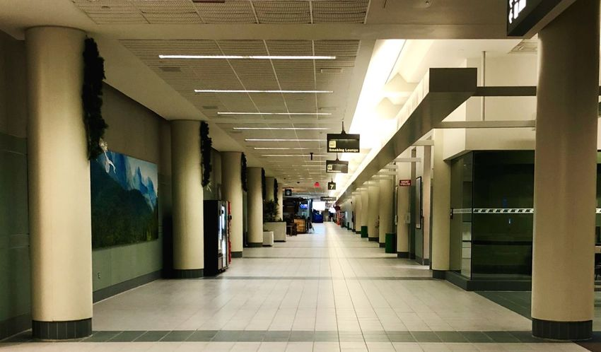 Night MHT Airport EyEmNewHere No People Nopeople The Way Forward Corridor Indoors  Architecture Built Structure Illuminated Architectural Column